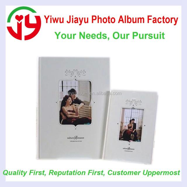 hotsale wedding photo album cover , square window foto album
