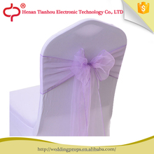 Factory Supply cheap wedding organza chair cover sashes
