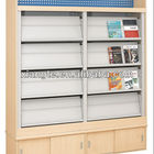 china hot selling library book rack ,metal library bookshelf for magazine display