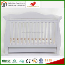 modern 4 in 1 convertible wooden baby crib attachable baby bed