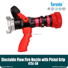 American adjust flow fire hose nozzle with Pistol Grip