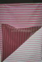 In season newest pink and white stripe spandex stretch fabric,cotton spandex fabric