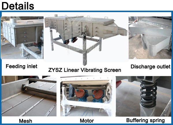 application of sieving in food industry