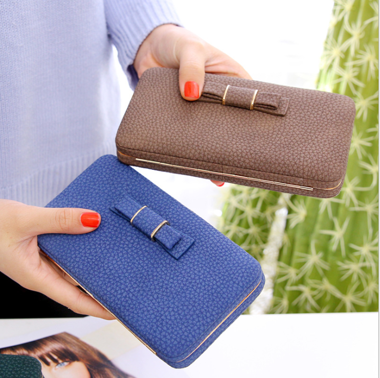 2017 Wholesale Wallets And Handbags PU Leather Lady Wallet Money Bag