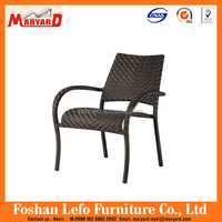 high quality outdoor dining furniture rattan aluminum stacking chair