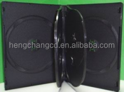 5/6 discs black DVD Case High Quality PP mutli Disc DVD Case