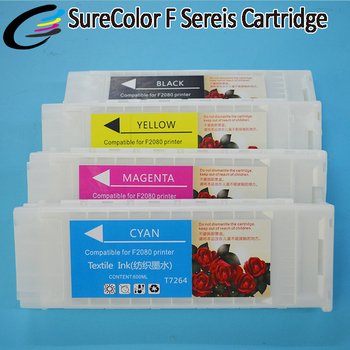 New Products 600ml Full Ink Cartridge for Epson SureColor F2080 F2000 Printer with Textile Ink