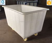Factory sell commercial plastic laundry trolley cart with wheels for storage and transfer