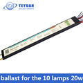 10 lamps 20w electronic ballast
