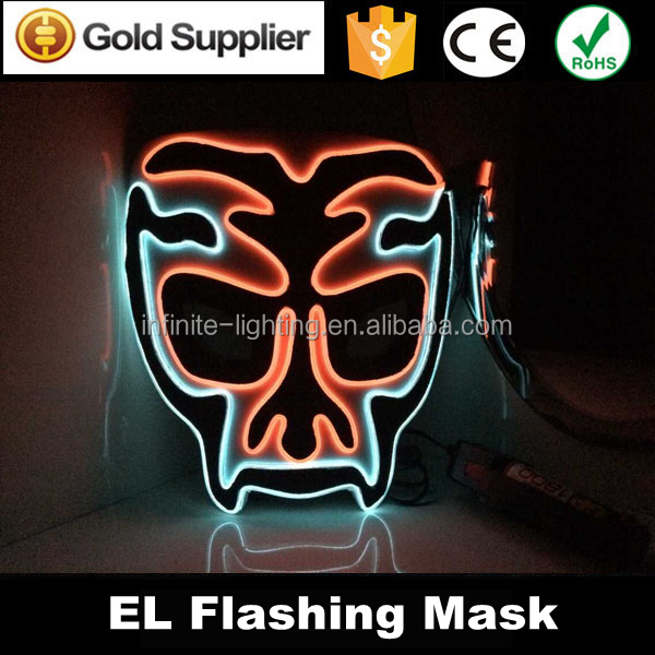 led light up party mask masquerade masks,El Wire lace Face Mask ...