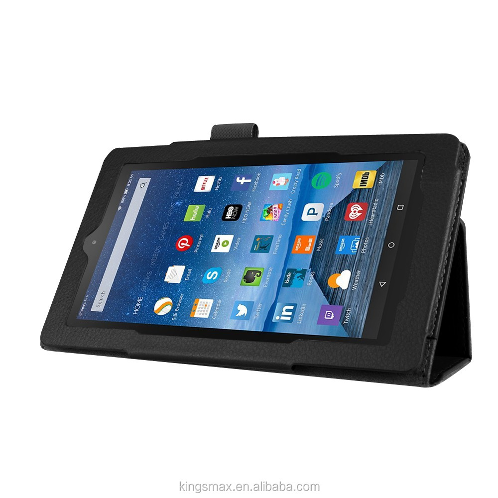 China Supplier Hot Selling Factory Price Black Leather Shockproof Tablet Case