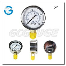 High quality stainless steel brass internal air pressure gage