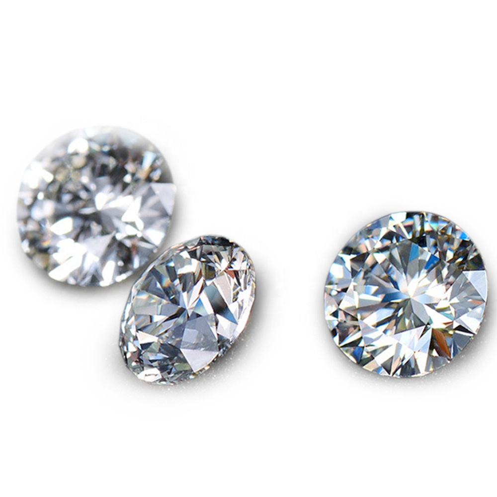 Middle size raw moissanite round <strong>diamond</strong> VVS1 clarity rough <strong>diamond</strong> prices per carat low price wholesale.