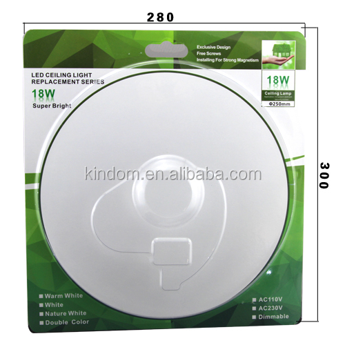 double color LED circular ceiling light replacement 18W 100lm/w 5730SMD