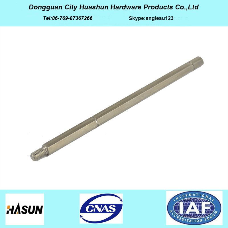 Customized CNC Turning Long Spline Shaft