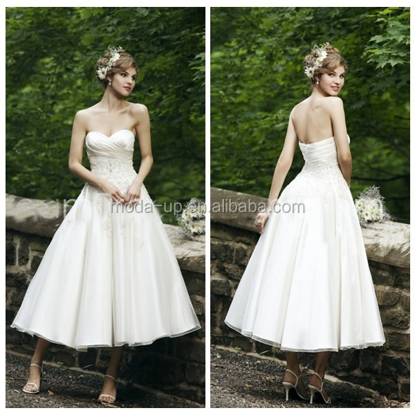 Wedding dresses country style, sexy short wedding dresses, ankle length wedding dresses