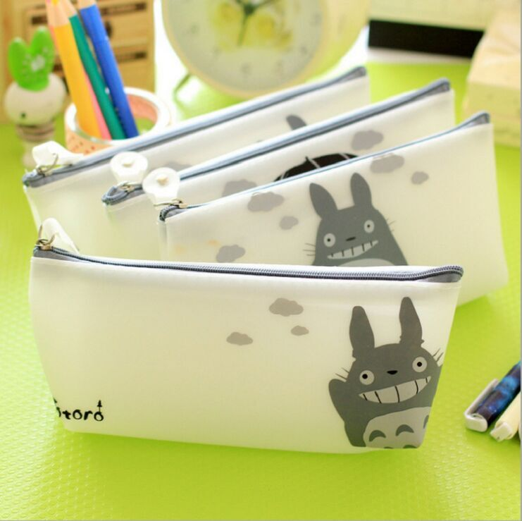 (Top Quality) Wholesale Creating Silicone My Neighbor Totoro School Pencil Case with Cartoon Shape Block