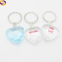 2018 Wholesale 3d acrylic heart shaped keychain with logo print