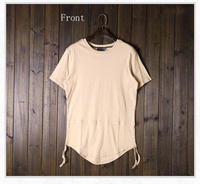 Long T shirt Short Sleeve Tshirts China Wholesale Curve Bottom T Shirts