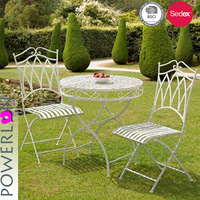Folding Shabby Chic Patio Set Outdoor