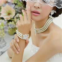 Bride beautiful fashion jewelry set with pearl