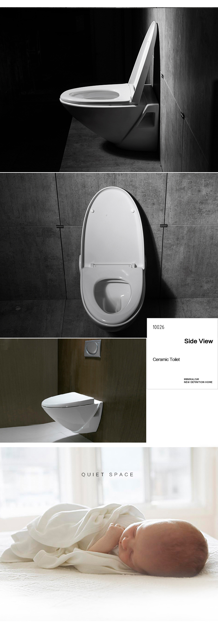 Sanitary Concealed Water Tank Toilet, The Damping Toilet Seat