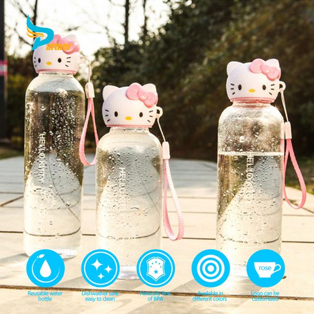 Wholesale Portable Cartoon Glass Custom Logo Water Bottle for Kids