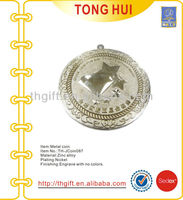 Metal custom design commemorative coin for Star Hotel