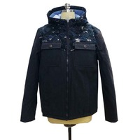 Fashion Men Pure Cotton Hooded Casual Jacket