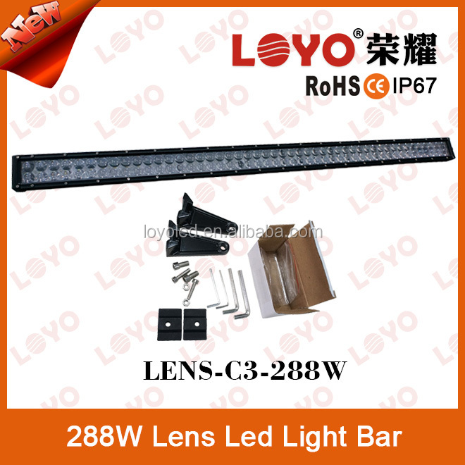 Excellent 12V 24V high power Fog Lamps Light Bar 288W most powerful led light bar