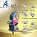 cryolipolysis machine with 3 cryo handles and cavitation rf