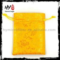 Factory Directly custom printed jewelry pouch, shopping jewellery pouch packing, velvet drawstring bags
