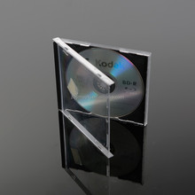 Wholesale Cheap Plastic Transparent 10.4mm DVD Case with Black Tray