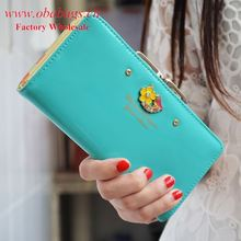 Factory Audit Passed Pink girls PU wallets and purses/Fashion trends women wallets/New model ladies purses