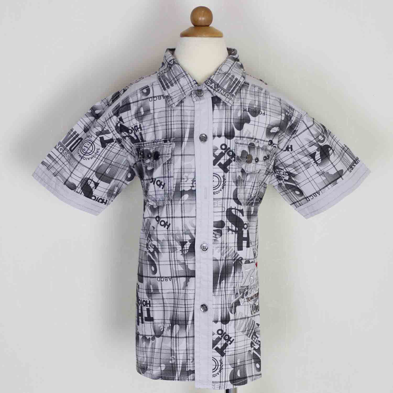High quality boy's cotton shirt for stocklot