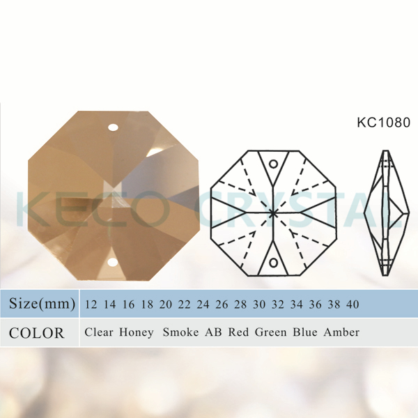 Crystal Chandelier Quality Types: AAA Quality Crystal Octagon Bead For Chandelier, Keco
