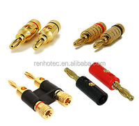 Banana connector jack socket plug, audio binding post mini din XLR RCA