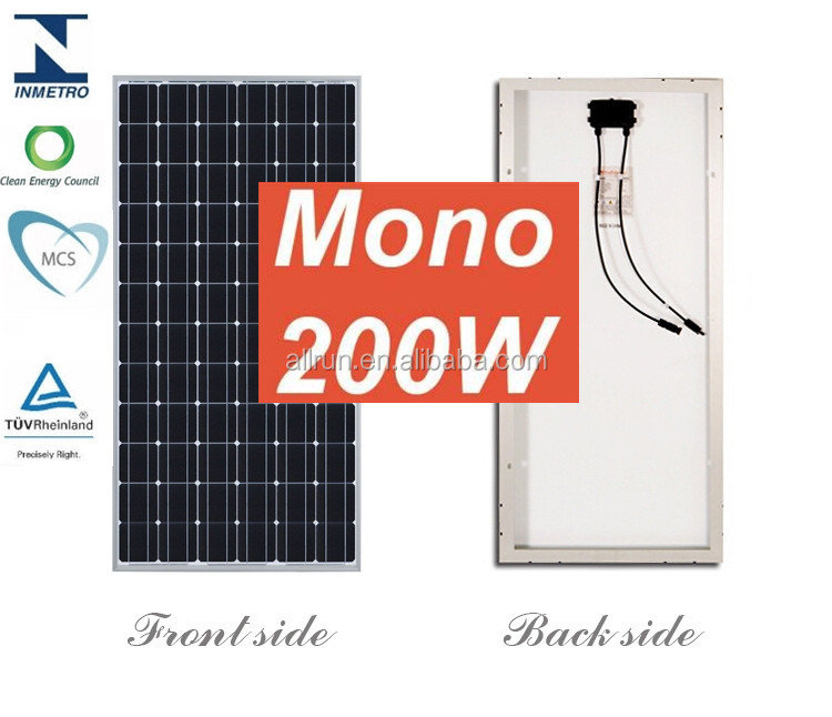 Most popular 4bb Pv module 24V 250W 220W 200W monocrystalline solar panels