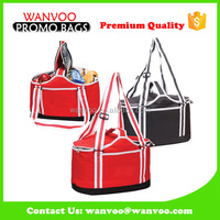 Recyclable Two Aluminium Handle Basket Tote for Picnic