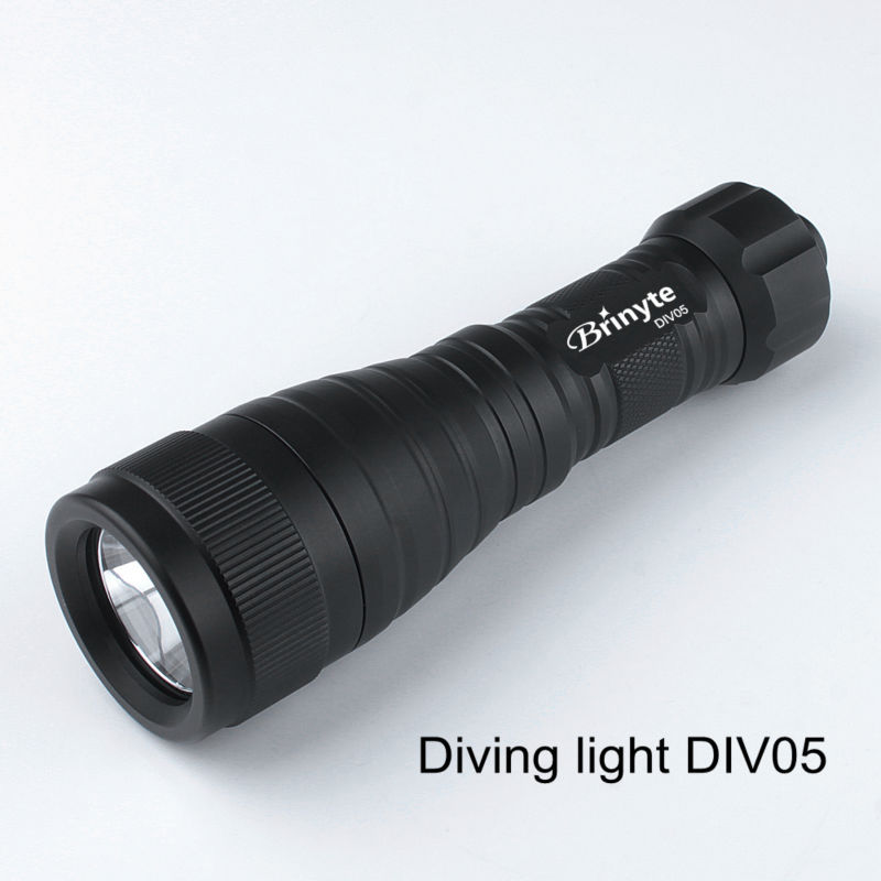 Hot selling Brinyte DIV05 Rechargeable Underwater <strong>Diving</strong> <strong>LED</strong> <strong>Flashlight</strong>
