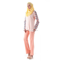 New Design Islamic Clothing Wholesale for Women Baju Kurung Modern with Pants