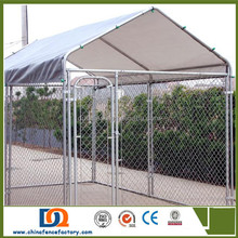 New design unique outdoor galvanized steel cheap Extra large dog kennels runs