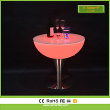 LED light up coffee table with chairs/glass coffee table with stools