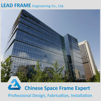 Cheap prefabricated steel structure glass curtain wall building