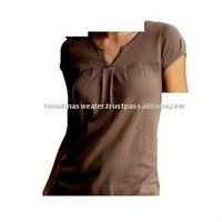 Women Cotton Knitting Short Sleeve Sweater