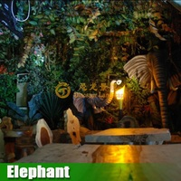 Artificial forest animals for Jungle theme restaurant