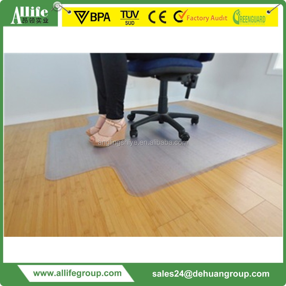 "PVC PP PC Chair Mat with Lip - 36 "" x 48 "" - Hard Floor Protection 