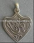 Sterling Silver OM shape Design Pendant