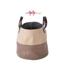 wholesale felt laundry bags in bulk with leather handle