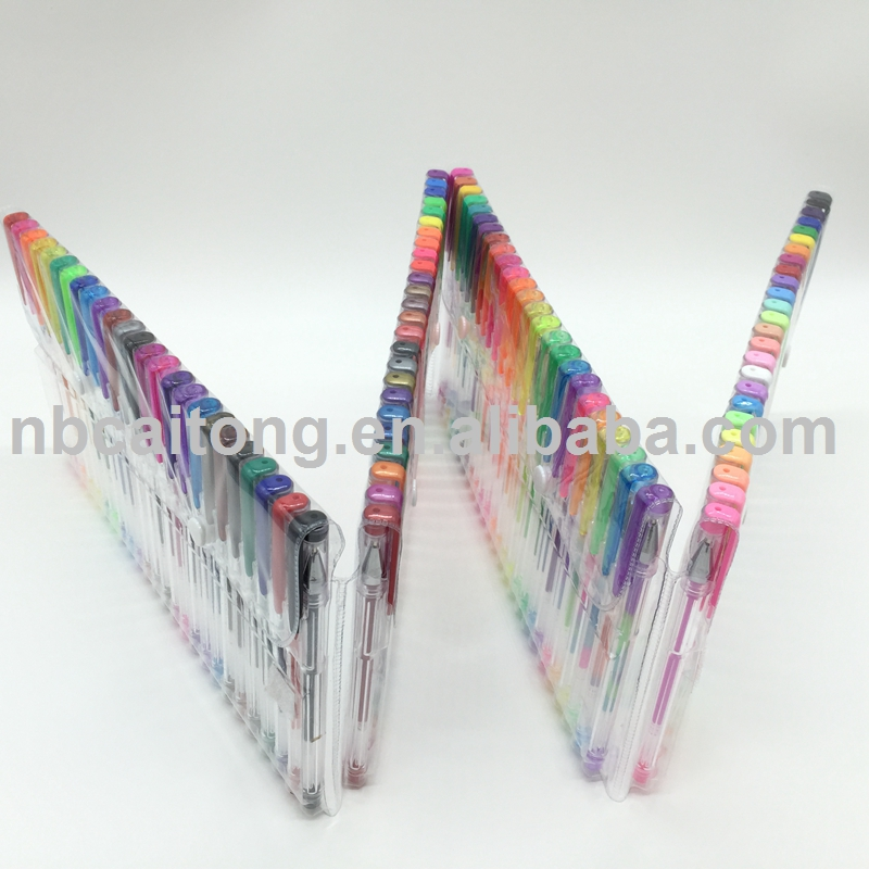 Hot sale 12 24 36 48 60 72 100 120 colors gel ink pen